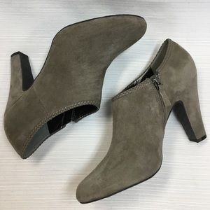 Neutral Suede Leather Booties by Tahari